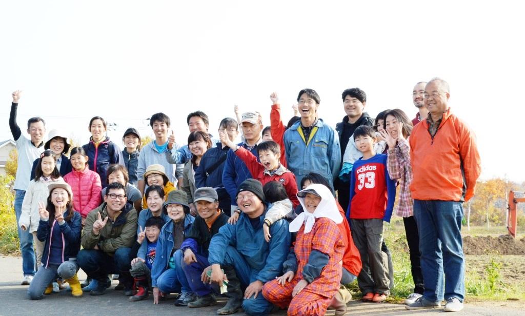 長いも、ごぼう掘り&札幌大球でお好み焼きづくり 第13回るるる♪2013年11月4日