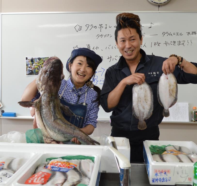 魚のさばき方、おろし方(カレイ、タラ、イカ、ゴッコ)るるる♪魚料理教室2014年1月